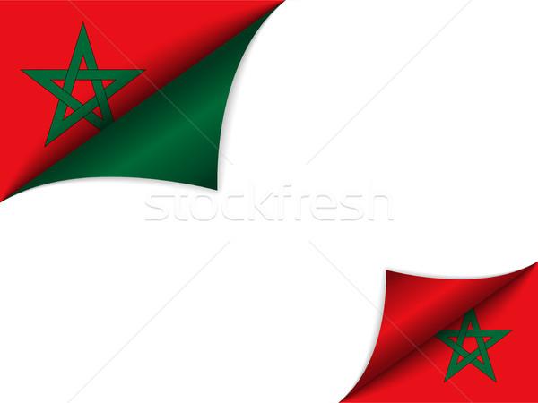 Maroc pays pavillon page vecteur signe Photo stock © gubh83