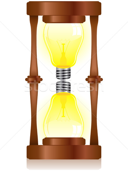 Creativity Hourglass with Light Bulb Stock photo © gubh83