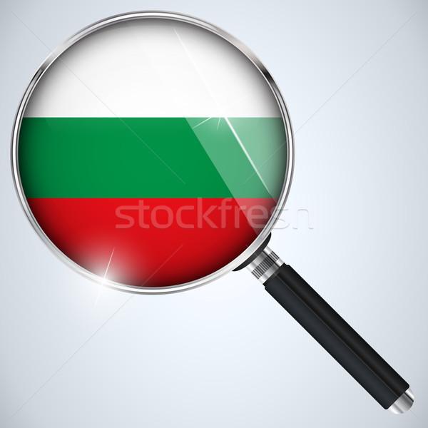 USA kormány kém program vidék Bulgária Stock fotó © gubh83