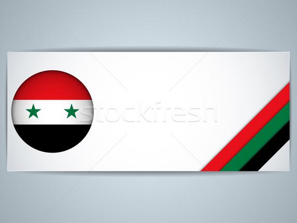 Syrie pays bannières vecteur affaires Photo stock © gubh83