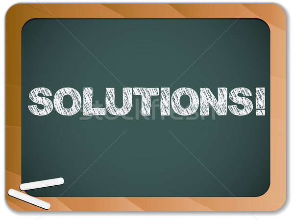 Blackboard with Solutions Message written with Chalk Stock photo © gubh83