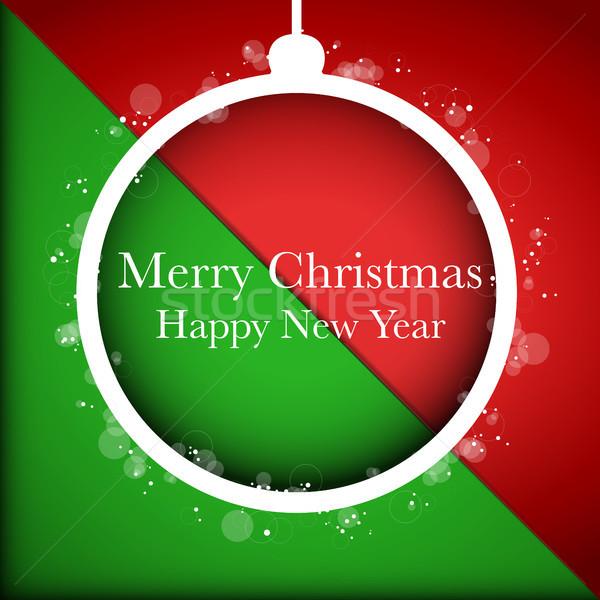 Alegre Navidad feliz año nuevo pelota rojo vector Foto stock © gubh83