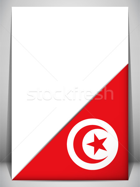 Tunisia Country Flag Turning Page Stock photo © gubh83