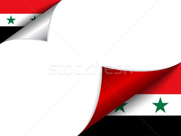 Syrië land vlag pagina vector teken Stockfoto © gubh83