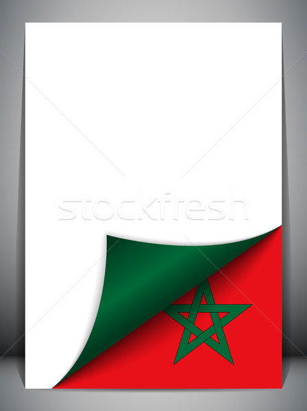 Marruecos país bandera página vector signo Foto stock © gubh83