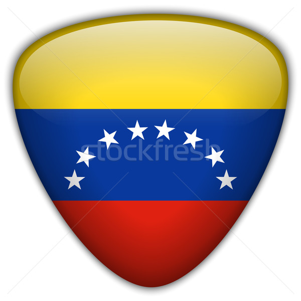 Venezuela bandeira botão vetor vidro Foto stock © gubh83