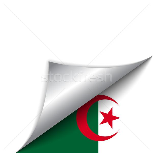 Stockfoto: Algerije · land · vlag · pagina · vector · teken