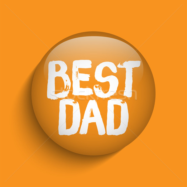 Happy Fathers Day Orange Icon Button Stock photo © gubh83