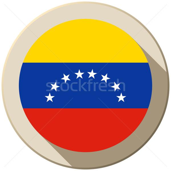 Venezuela vlag knop icon moderne vector Stockfoto © gubh83