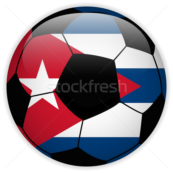 Cuba bandiera soccer ball vettore mondo calcio Foto d'archivio © gubh83