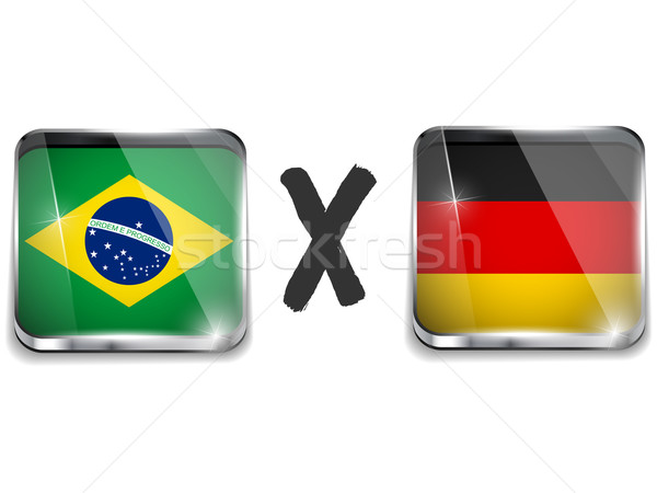 Germany versus Brazil Flag Soccer Game Stock photo © gubh83