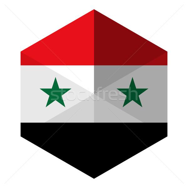 シリア フラグ 六角形 アイコン ボタン 世界 ストックフォト © gubh83