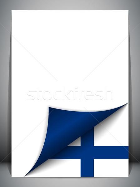Финляндия стране флаг страница вектора знак Сток-фото © gubh83
