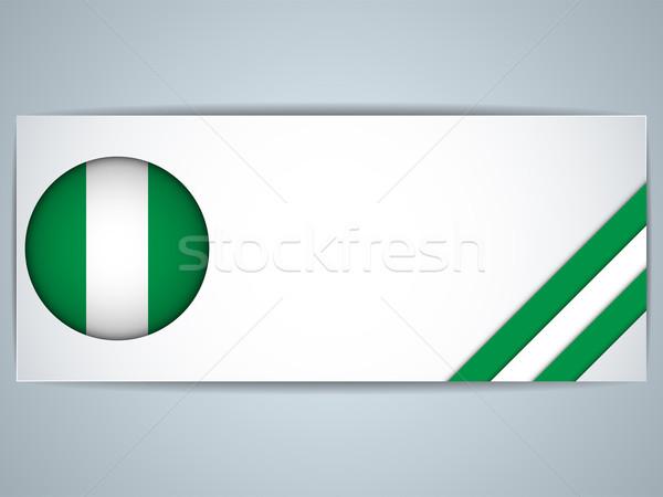 Nigéria país conjunto banners vetor negócio Foto stock © gubh83