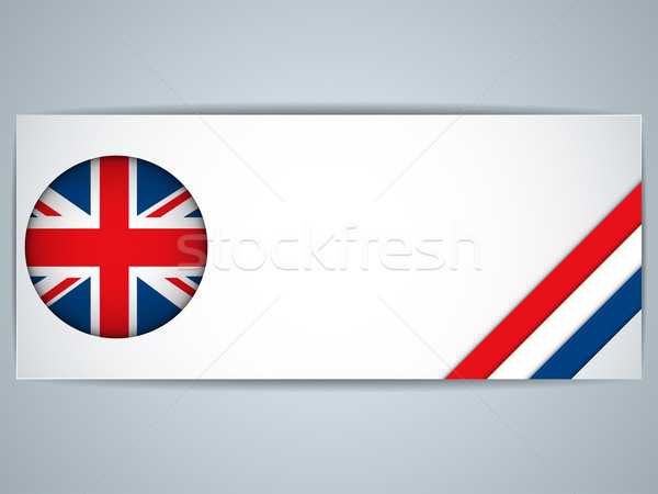 Reino Unido país establecer banners vector negocios Foto stock © gubh83