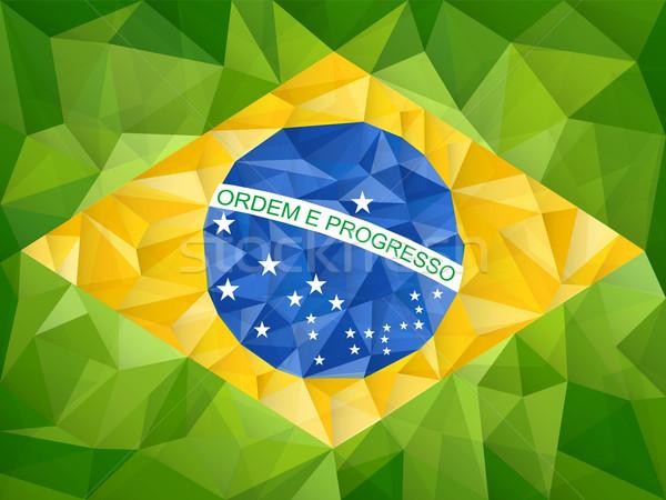 Brasil país bandera geométrico vector papel Foto stock © gubh83
