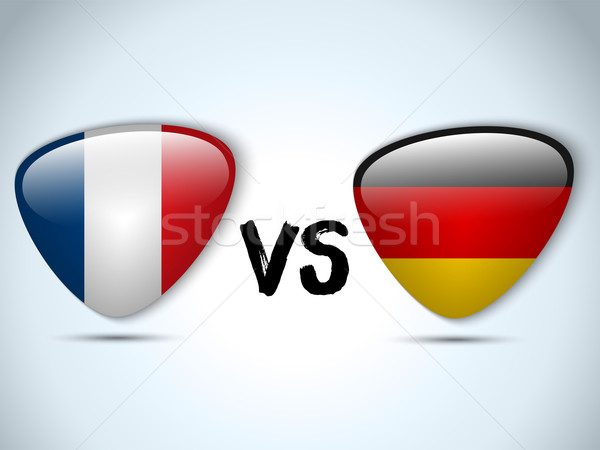 Germany versus France Flag Soccer Game Stock photo © gubh83
