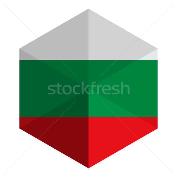 Bulgaria Flag Hexagon Flat Icon Button Stock photo © gubh83