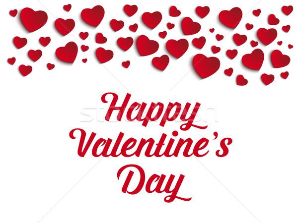 Valentine dia amor coração vetor papel Foto stock © gubh83