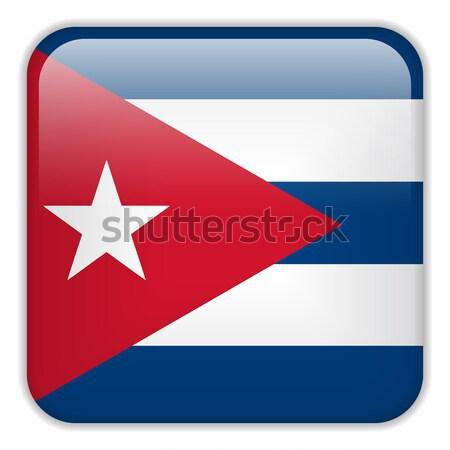 Stock fotó: Kuba · zászló · okostelefon · alkalmazás · tér · gombok