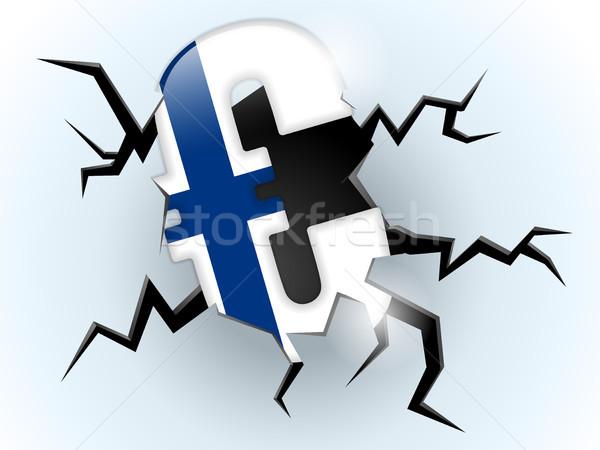 Euro geld crisis Finland vlag spleet Stockfoto © gubh83