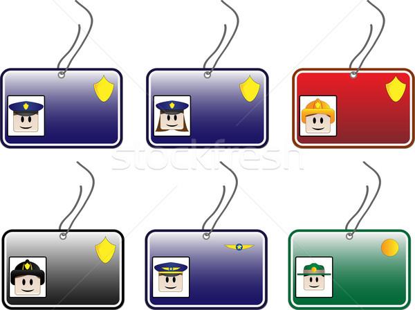 Polis kart kimlik kartı park Stok fotoğraf © gubh83