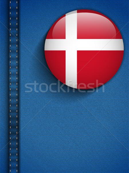 Denmark Flag Button in Jeans Pocket Stock photo © gubh83