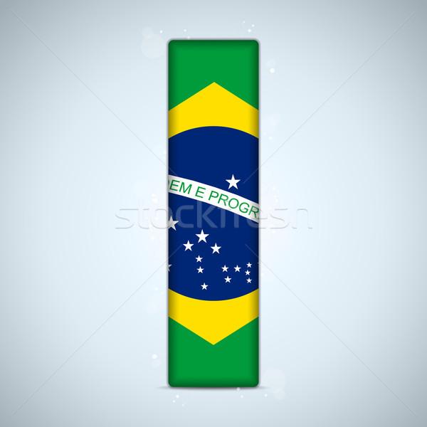 Brazylia banderą alfabet litery słowa wektora Zdjęcia stock © gubh83
