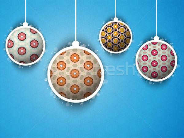 陽気な クリスマス 花 レトロな ベクトル ストックフォト © gubh83