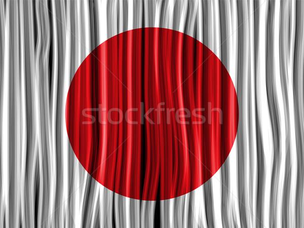 Japán zászló hullám szövet textúra vektor Stock fotó © gubh83