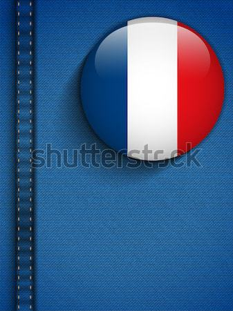 Gay Flag Button on Jeans Fabric Texture France Stock photo © gubh83