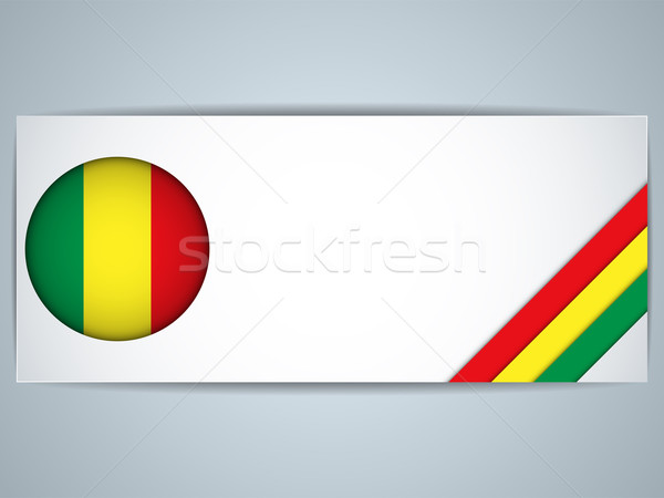Mali Country Set of Banners Stock photo © gubh83