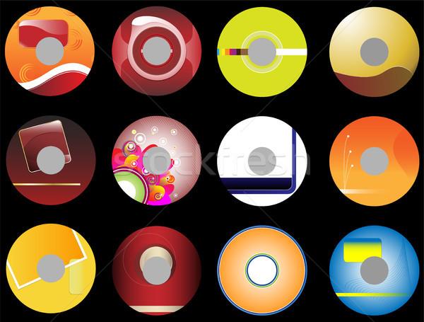 12 iş cds cd ofis soyut Stok fotoğraf © gubh83