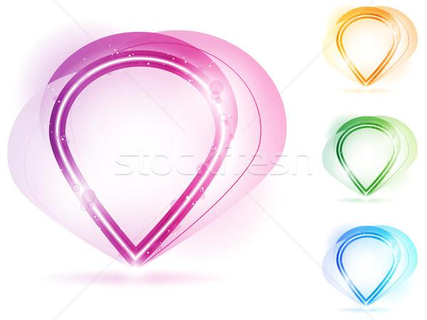 Kolorowy neon Bańka ramki wektora projektu Zdjęcia stock © gubh83