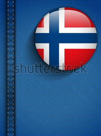 Gay Flag Button on Jeans Fabric Texture Norway Stock photo © gubh83