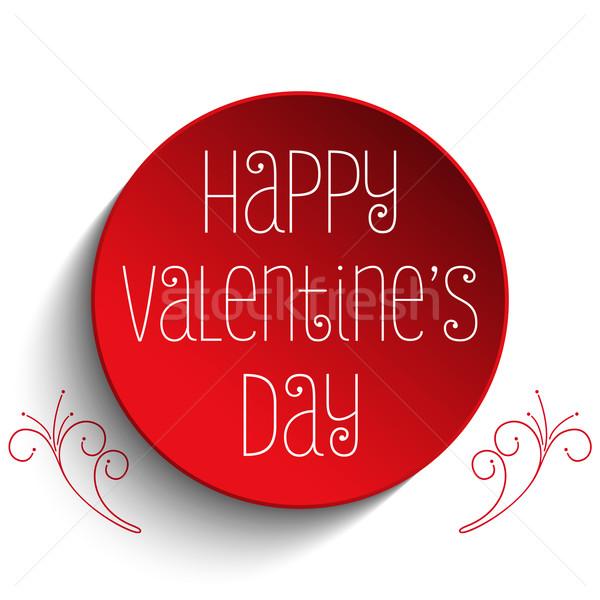 Valentin nap nap szeretet gomb vektor papír Stock fotó © gubh83