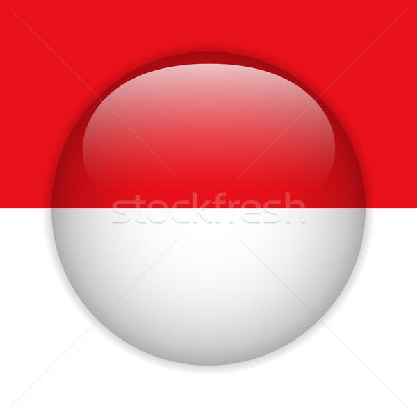 Mônaco bandeira botão vetor vidro Foto stock © gubh83