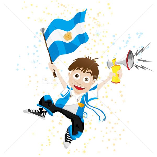 Argentinië sport fan vlag hoorn vector Stockfoto © gubh83