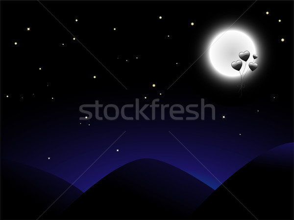 Balloon Moon Stock photo © gubh83