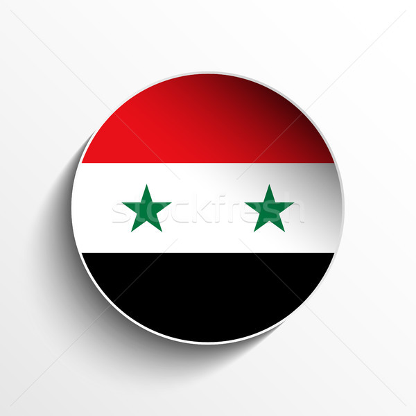 Syrië vlag papier cirkel schaduw knop Stockfoto © gubh83