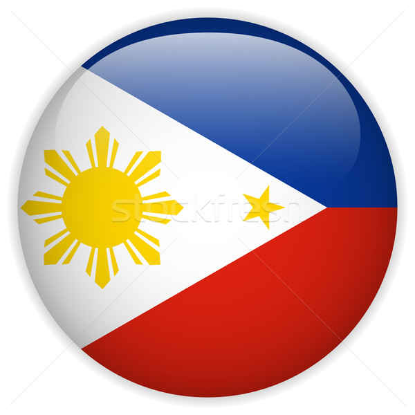 Philippines Flag Glossy Button Stock photo © gubh83