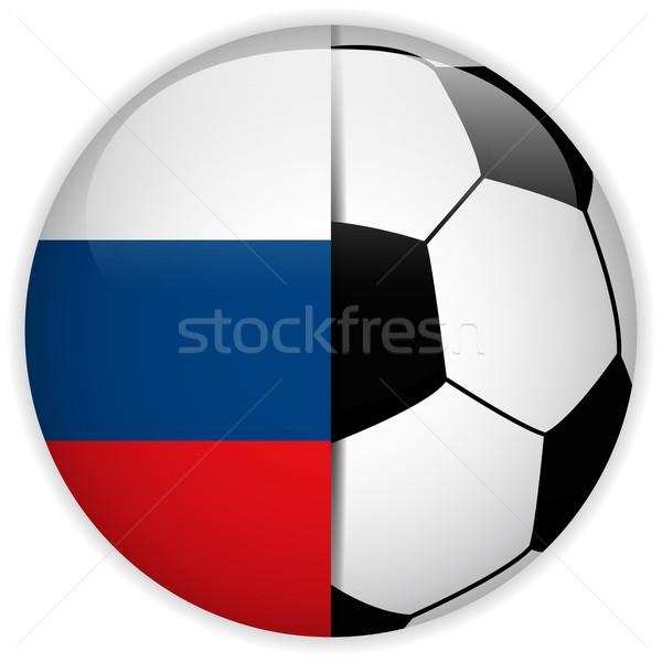Rusia bandera balón de fútbol vector mundo fútbol Foto stock © gubh83