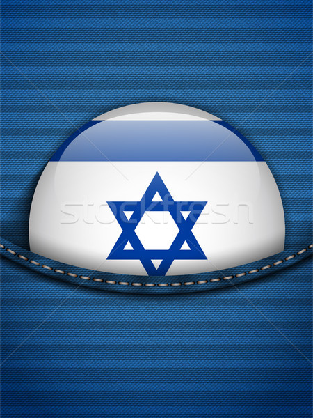 Israel Flag Button in Jeans Pocket Stock photo © gubh83