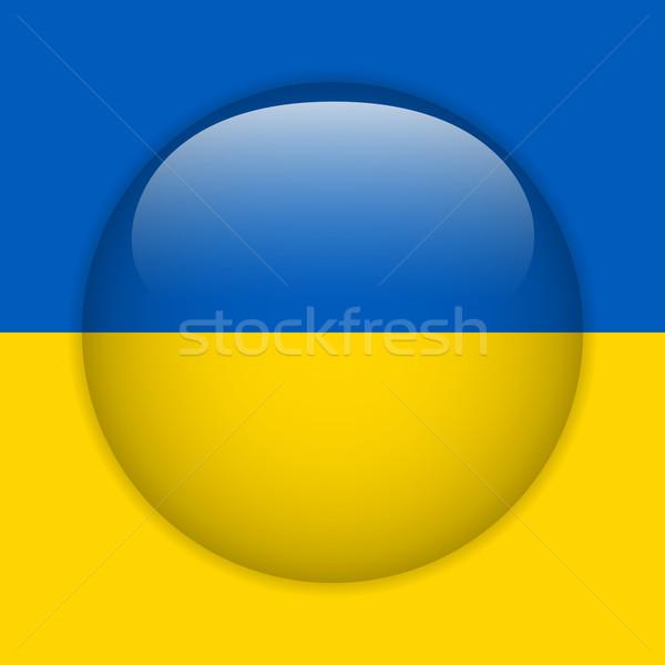 Ucrânia bandeira botão vetor vidro Foto stock © gubh83