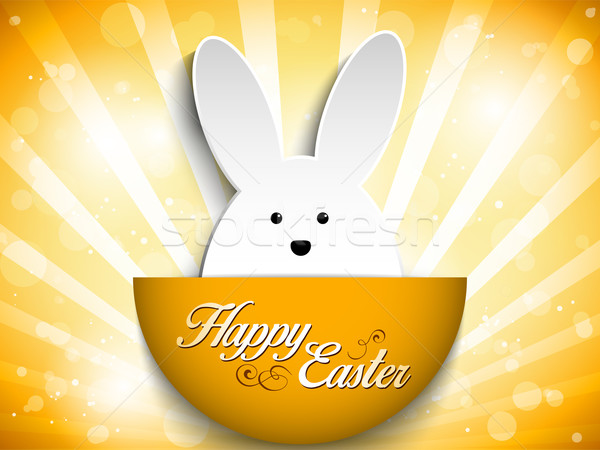 Frohe Ostern Kaninchen bunny orange Vektor Papier Stock foto © gubh83
