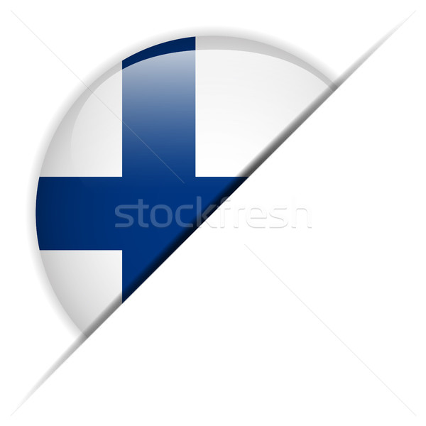 Finland Flag Glossy Button Stock photo © gubh83