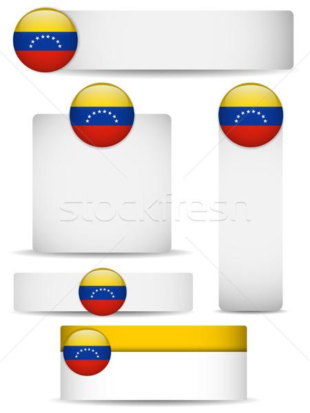 Venezuela vidék szett bannerek vektor üzlet Stock fotó © gubh83
