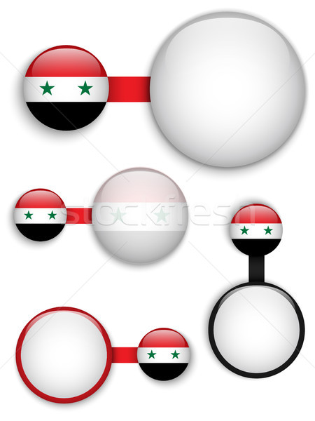 Vector Syrië land ingesteld banners business Stockfoto © gubh83