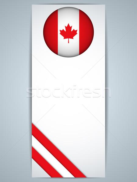 Kanada vidék szett bannerek vektor absztrakt Stock fotó © gubh83