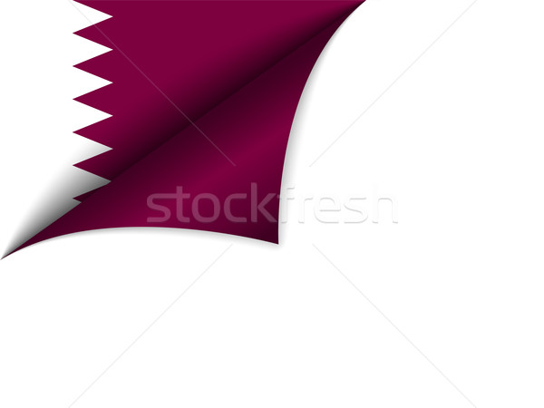 Qatar pays pavillon page vecteur monde Photo stock © gubh83